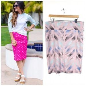 LulaRoe Cassie Lilac Geo Pencil Skirt Sz XL 18-20